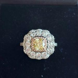 2 Carat Citrine Sterling Silver Ring